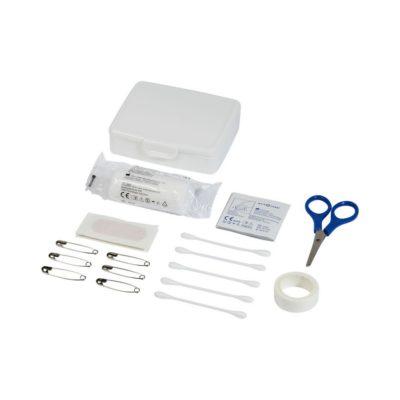 24-elementowy zestaw pierwszej pomocy Frederik w plastikowej walizce - Biały