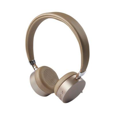Aluminiowe słuchawki Bluetooth® Millennial - żółty