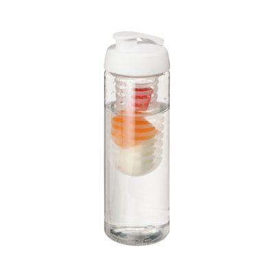 Bidon H2O Base® z o pojemności 850 ml z otwieranym wieczkiem i zaparzaczem - Biały