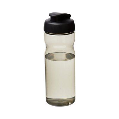 Bidon H2O Eco o pojemności 650ml z wieczkiem zaciskowym - Szary