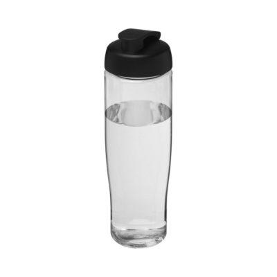 Bidon H2O Tempo® o pojemności 700 ml z wieczkiem zaciskowym - Biały