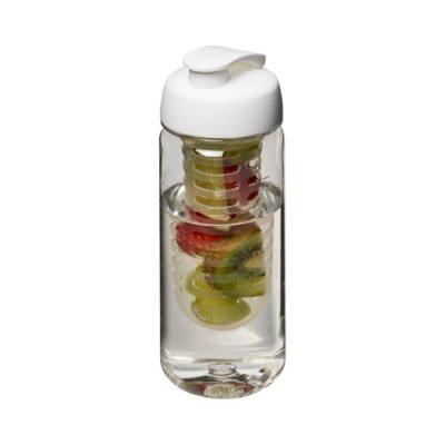 Bidon Octave Tritan™ o pojemności 600 ml z wieczkiem zaciskowymz możliwością przyrządzania wody smakowej - Biały