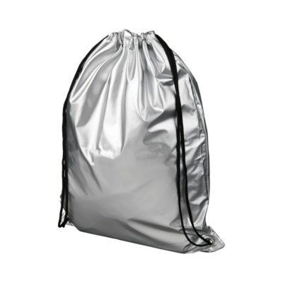 Błyszczący plecak Oriole ze sznurkiem ściągającym - Szary