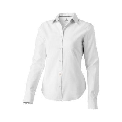 Damska koszula Vaillant z tkaniny Oxford z długim rękawem - Biały