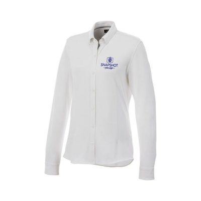 Damska koszula z długim rękawem o splocie pique Bigelow