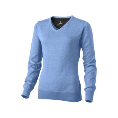 Damski pulower Spruce w dekoltem w serek - niebieski
