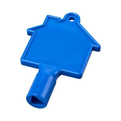 Klucz do skrzynek w kształcie domku Maximilian - niebieski