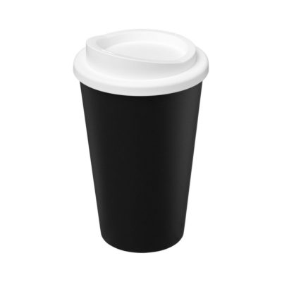Kubek Americano Eco z recyklingu o pojemności 350 ml - czarny