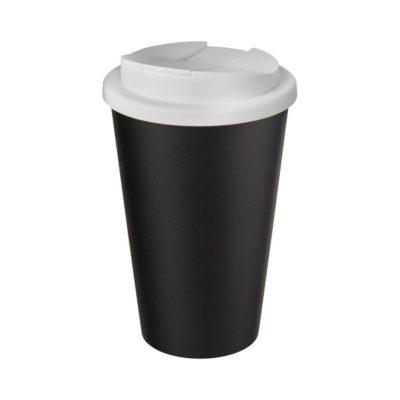 Kubek Americano® Eco z recyklingu o pojemności 350 ml z pokrywą odporną na zalanie - Biały