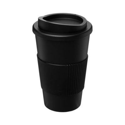 Kubek termiczny z serii Americano® o pojemności 350 ml z uchwytem - czarny