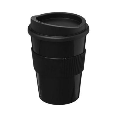 Kubek z serii Americano® Medio o pojemności 300 ml z uchwytem - czarny