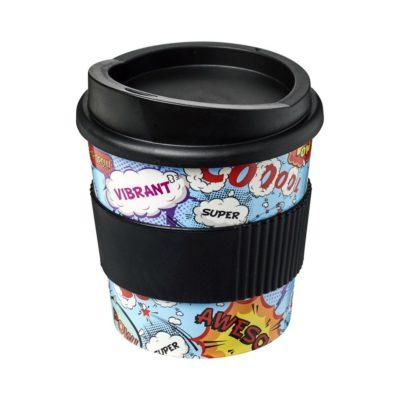 Kubek z serii Brite-Americano® Primo o pojemności 250 ml z uchwytem - czarny