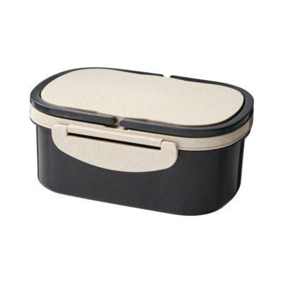 Lunchbox z włókna słomy pszenicy Crave - czarny