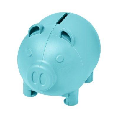 Mała skarbonka-świnka Oink - niebieski