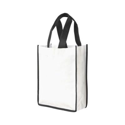 Mała torba na zakupy non-woven Contrast - Biały