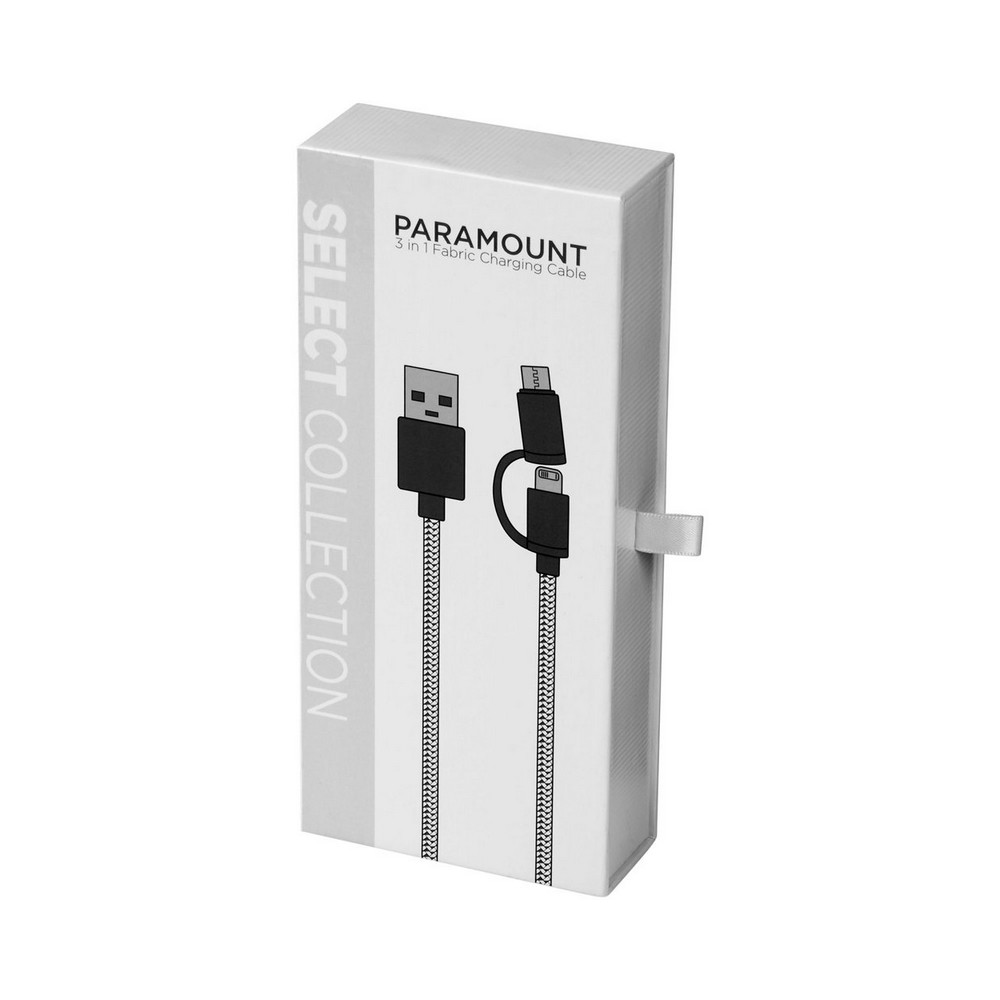 Materiałowy kabel do ładowania 3w1 Paramount