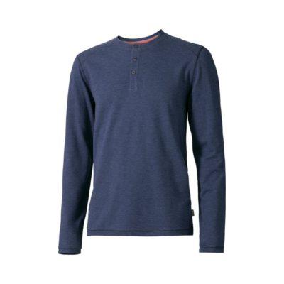 Męska koszulka z długim rękawem Touch - niebieski