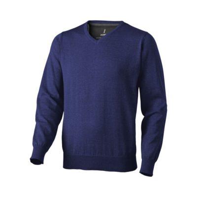 Męski pulower Spruce w dekoltem w serek - niebieski
