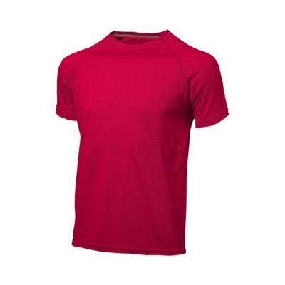 Męski T-shirt Serve z krótkim rękawem z dzianiny Cool Fit odprowadzającej wilgoć - Czerwony