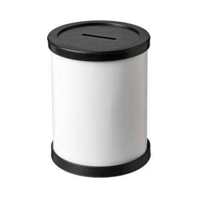 Okrągły pojemnik na pieniądze Rafi - czarny