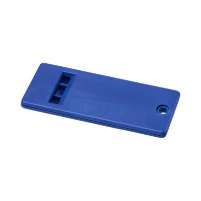 Płaski gwizdek z dużą powierzchnią na logo Wanda - niebieski