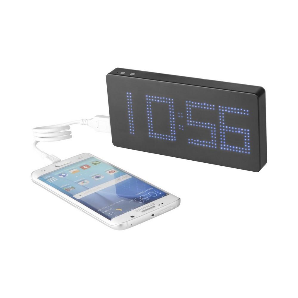 Powerbank z wyświetlaczem LED i zegarem PB-8000