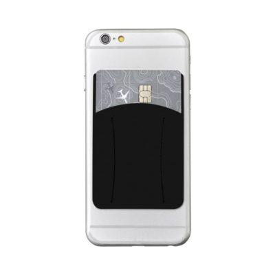 Silikonowe etui do telefonu z otworem na palec Storee - czarny