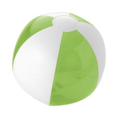 Solidna, przezroczysta piłka plażowa Bondi - Zielony