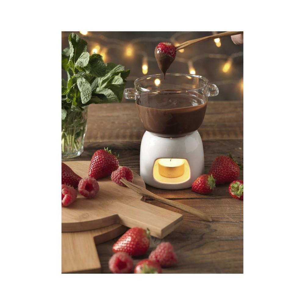 Szklany zestaw do czekoladowego fondue Belgium