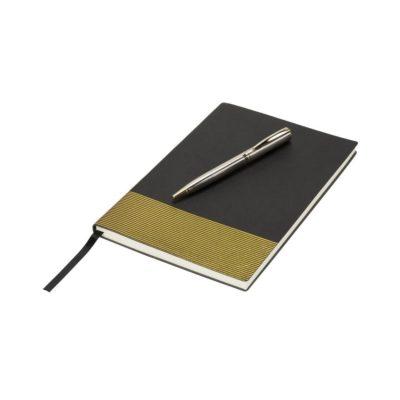 Zestaw upominkowy z notatnikiem i długopisem Midas - czarny