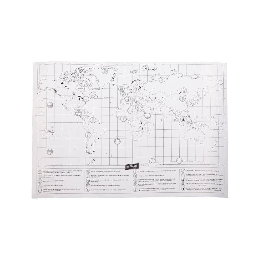Mapa świata-zdrapka Rolling Stone