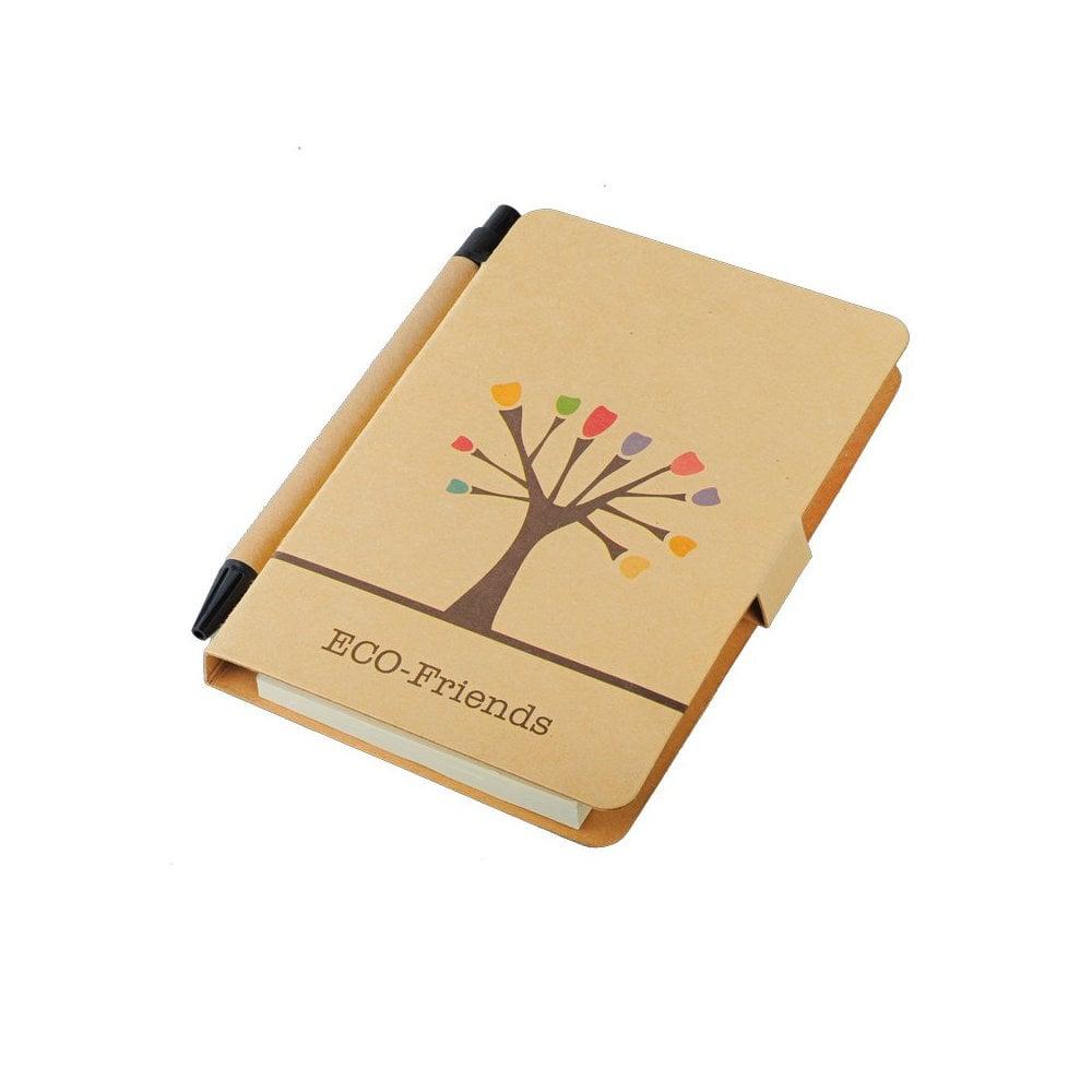 Notes 80x140/50k gładki Tree z długopisem