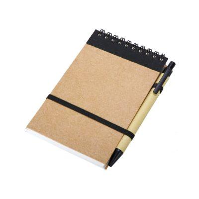 Notes Kraft 90x140/70k gładki z długopisem