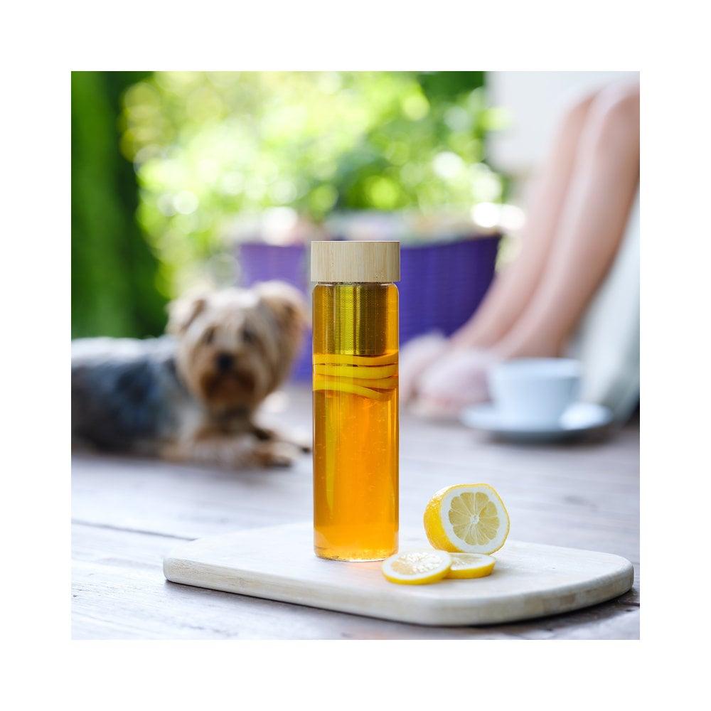 Szklana butelka z zaparzaczem herbaty Gourmet 600 ml