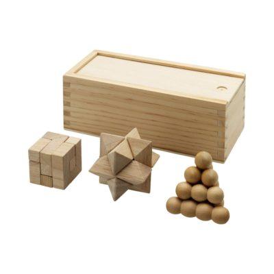 3-częściowy zestaw łamigłówek drewnianych Braniac