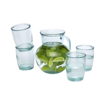 5-częściowy zestaw szkła z recyclingu Terazza
