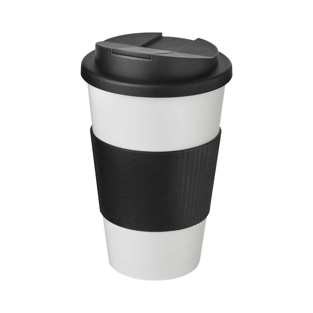 Americano® 350 ml tumbler with grip & spill-proof lid