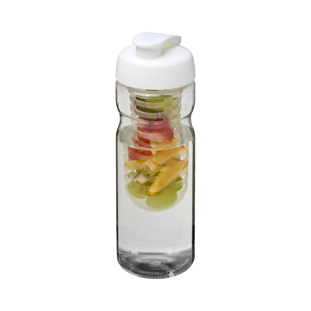 Bidon H2O Base® z wieczkiem na zacisk o pojemności 650 ml zmożliwością przyrządzania wody smakowej