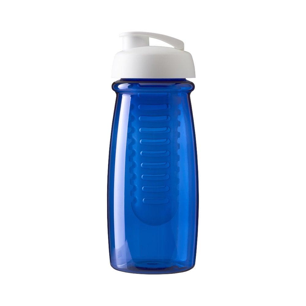 Bidon H2O Pulse® o pojemności 600 ml z wieczkiem zaciskowym zmożliwością przyrządzania wody smakowej