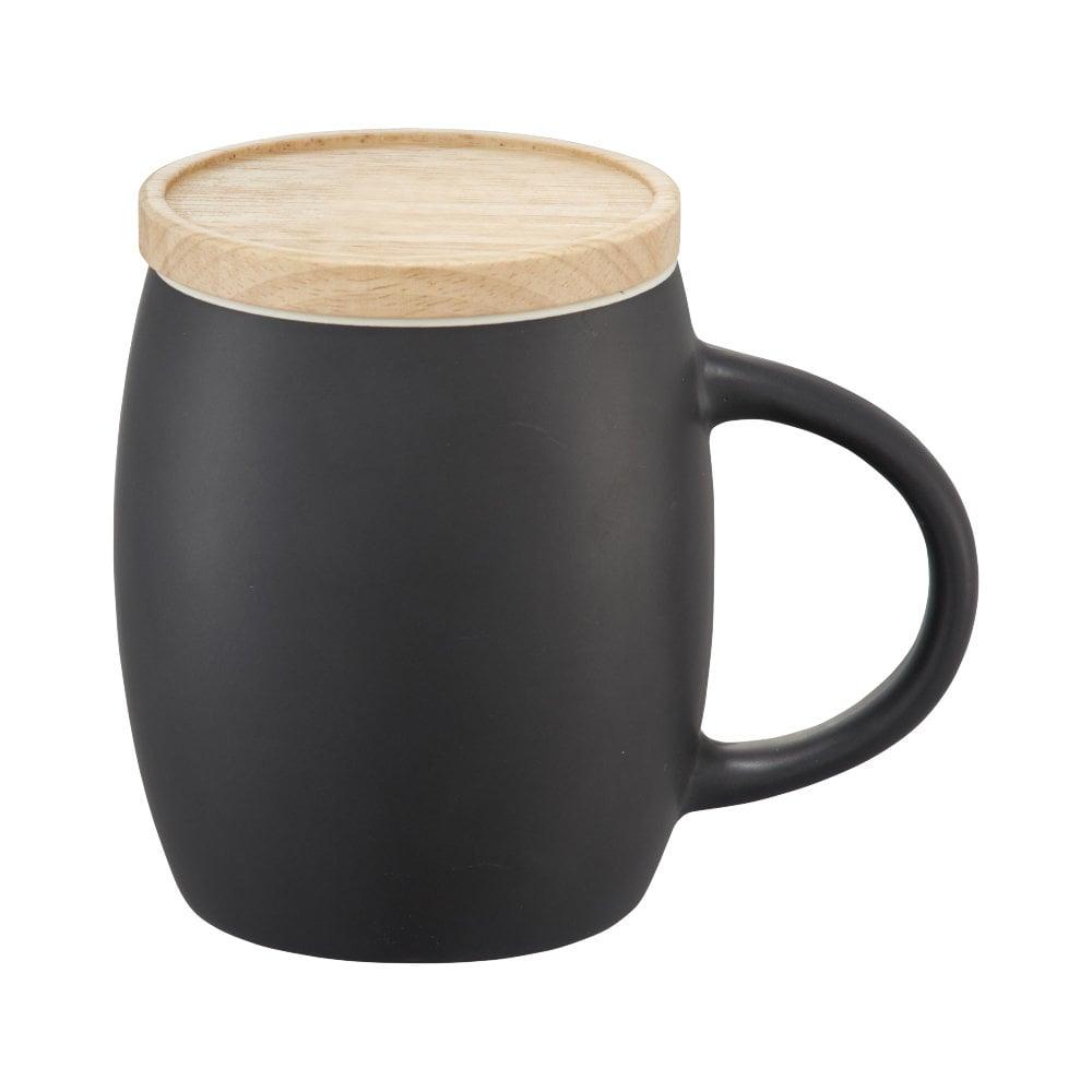 Ceramiczny kubek Hearth z drewnianym wiekiem/spodeczkiem
