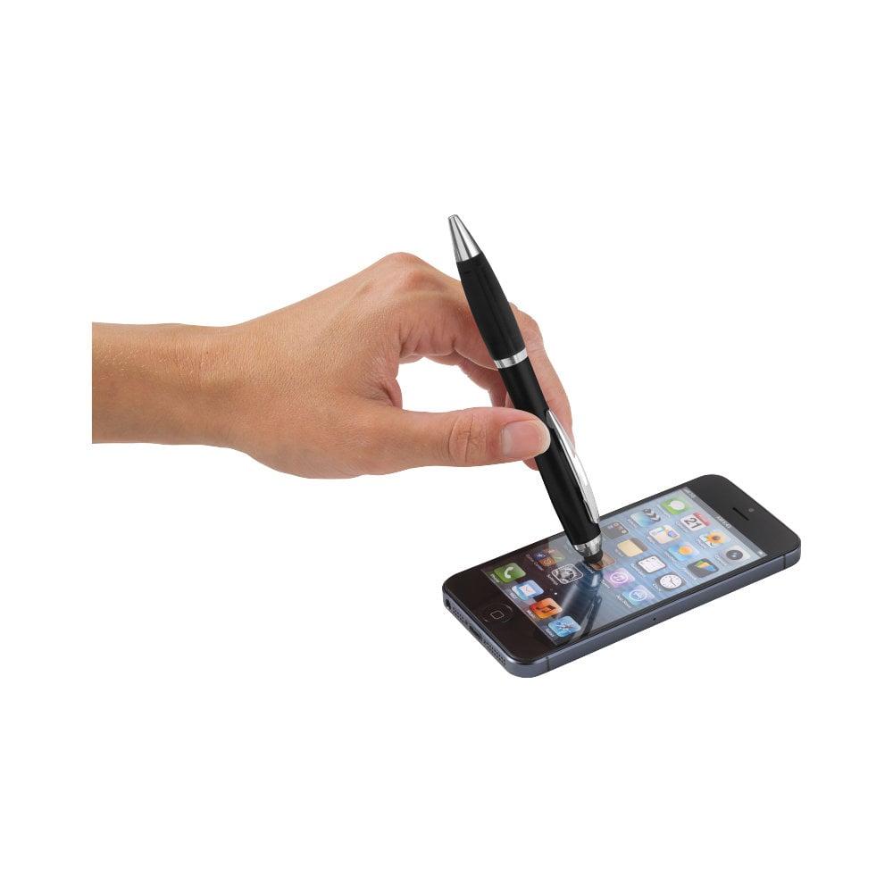 Długopis kolorowy ze stylusem i czarnym uchwytem Nash