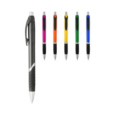 Długopis z gumowym uchwytem Turbo