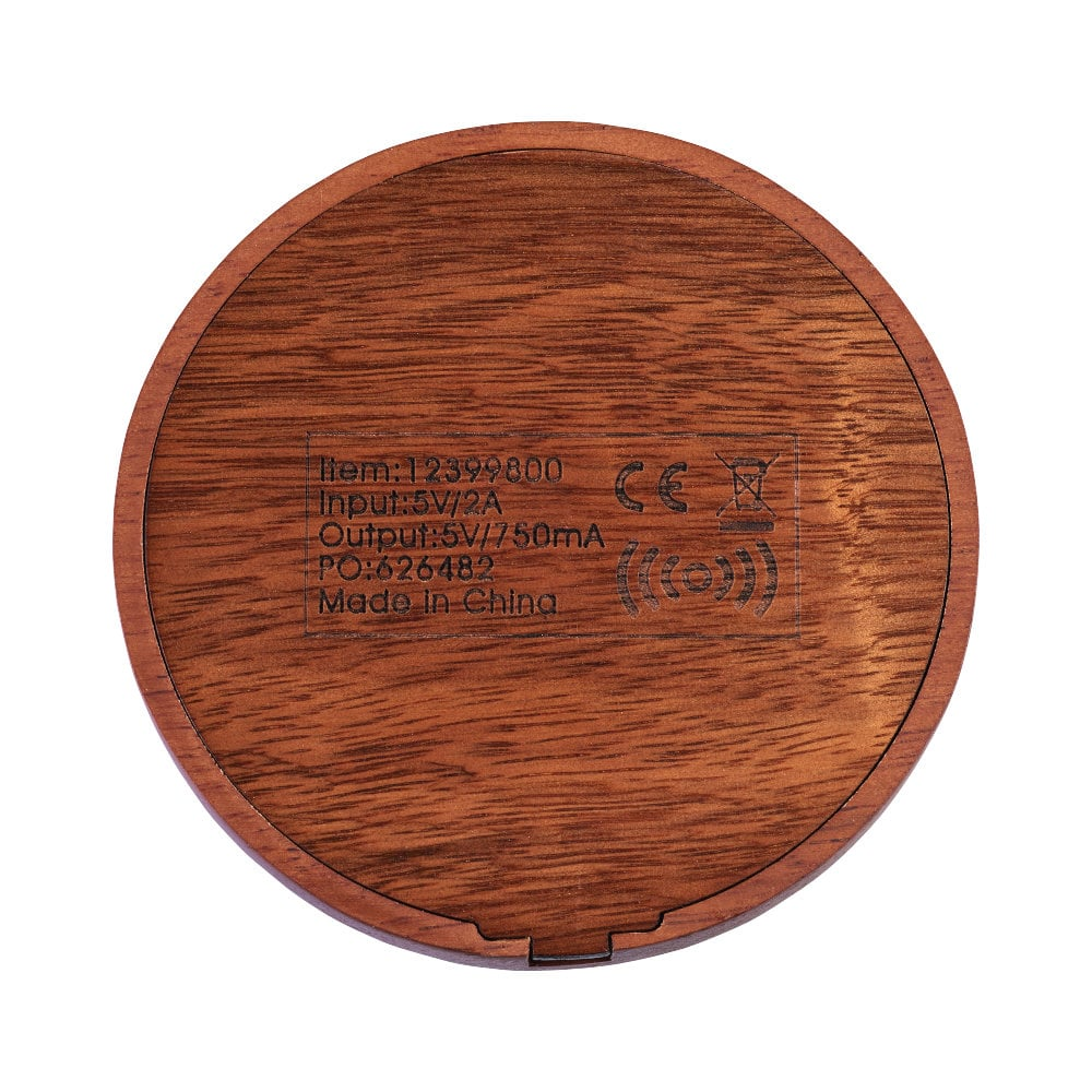 Drewniana bezprzewodowa ładowarka indukcyjna Bora