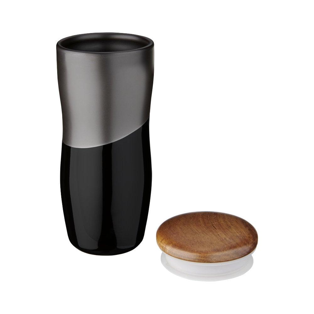 Dwuwarstwowy kubek ceramiczny Reno o pojemności 370 ml