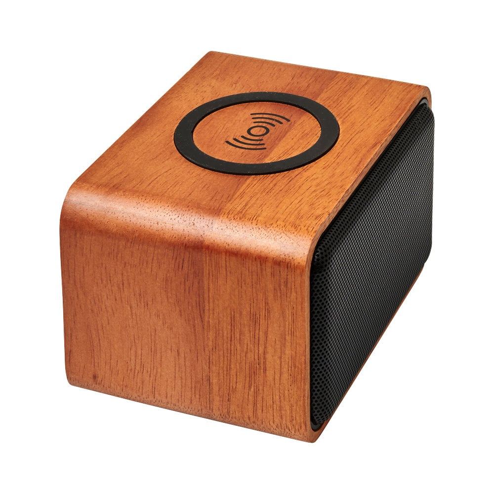 Głośnik Wooden z bezprzewodową ładowarką indukcyjną
