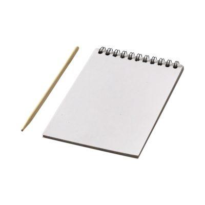 Kolorowy notatnik zdrapka z długopisem Waynon