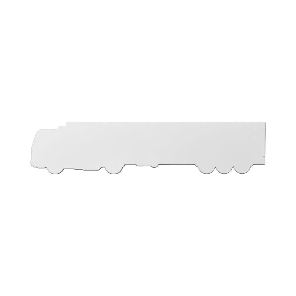 Linijka Larry o długości 24 cm wykonana z tworzywa sztucznego w kształcie ciężarówki