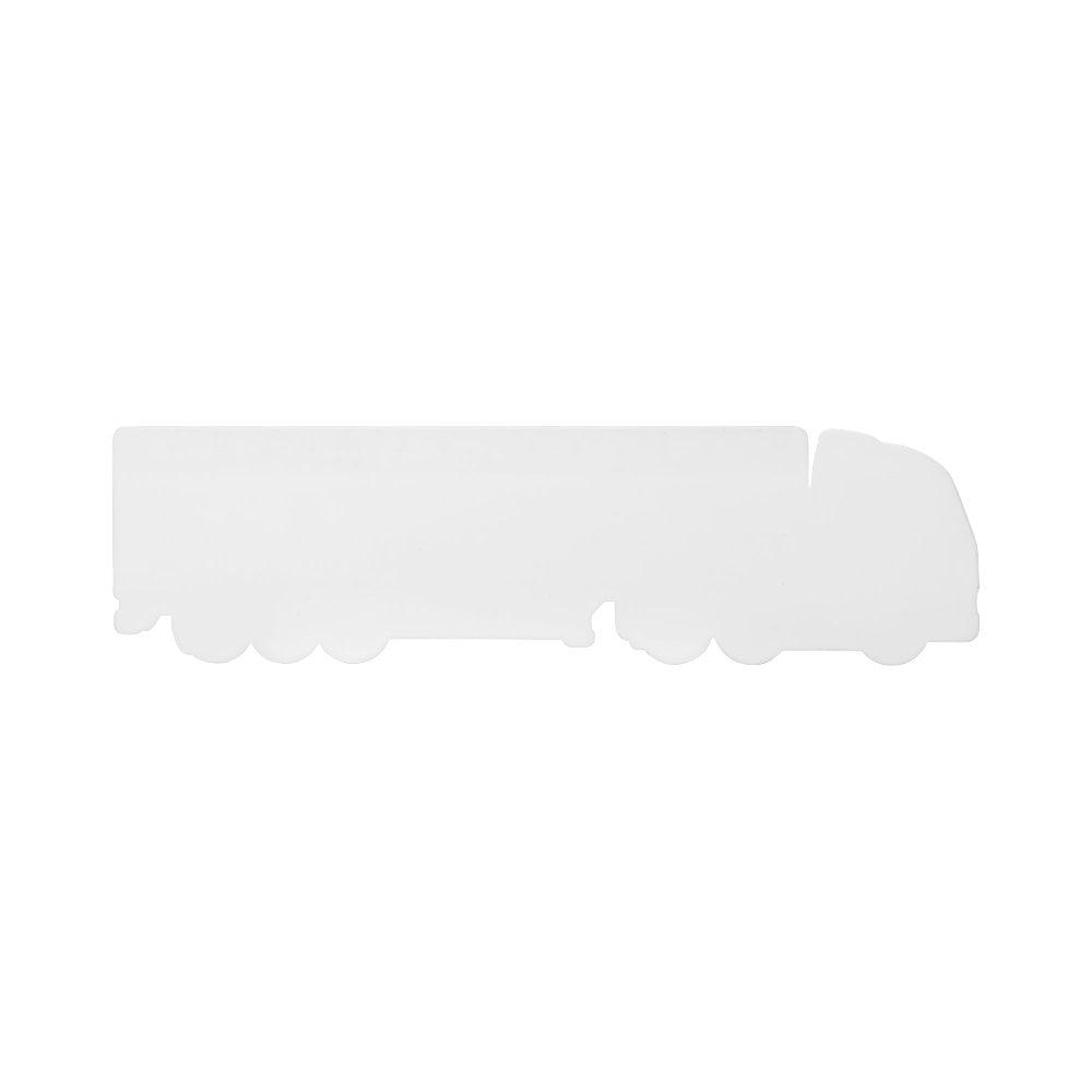 Linijka Loki o długości 15 cm wykonana z tworzywa sztucznego w kształcie ciężarówki