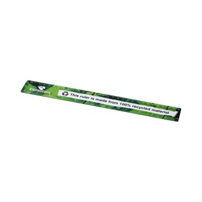 Linijka Terran o długości 30 cm w całości wykonana z tworzyw sztucznych pochodzących z recyklingu