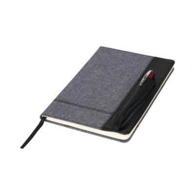 Melanżowy notatnik A5 z grzbietem skóropodobnym